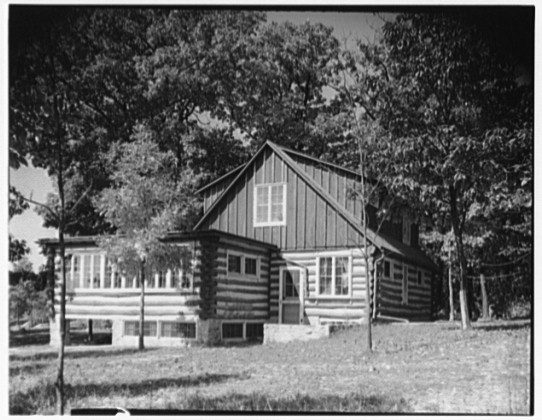 Beaver Dam Camp circa 1950. Main Building seen from the Campfire